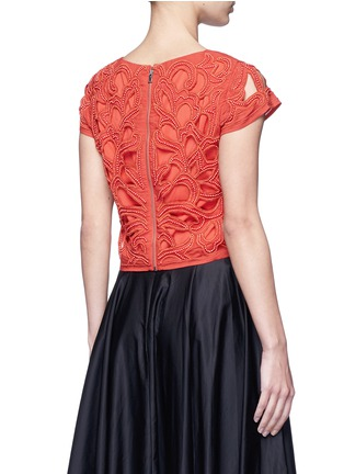 Back View - Click To Enlarge - alice + olivia - Bead embellished floral cropped top