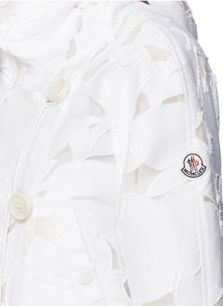 Detail View - Click To Enlarge - MONCLER - 'Pistache' floral fil coupé jacket