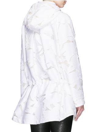 Back View - Click To Enlarge - MONCLER - 'Pistache' floral fil coupé jacket