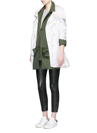 Figure View - Click To Enlarge - MONCLER - 'Pistache' floral fil coupé jacket