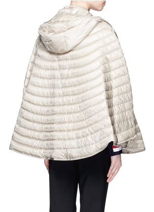 Back View - Click To Enlarge - Moncler - 'Chinchard' hooded down cape jacket