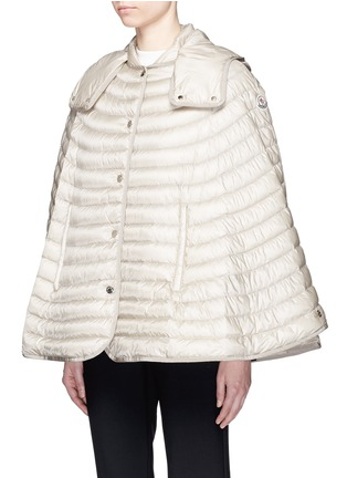 Front View - Click To Enlarge - Moncler - 'Chinchard' hooded down cape jacket