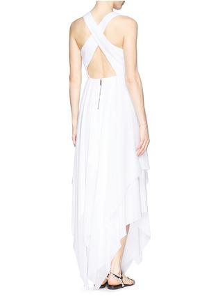 Back View - Click To Enlarge - alice + olivia - 'Mya' cross back handkerchief dress