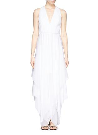 Main View - Click To Enlarge - alice + olivia - 'Mya' cross back handkerchief dress