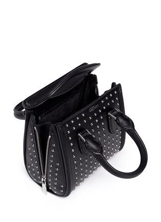 Detail View - Click To Enlarge - ALEXANDER MCQUEEN - 'Heroine' mini stud leather satchel