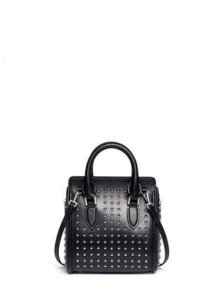 Back View - Click To Enlarge - ALEXANDER MCQUEEN - 'Heroine' mini stud leather satchel