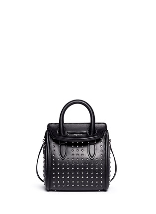 Main View - Click To Enlarge - ALEXANDER MCQUEEN - 'Heroine' mini stud leather satchel