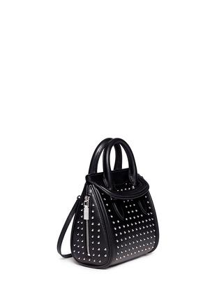 Figure View - Click To Enlarge - ALEXANDER MCQUEEN - 'Heroine' mini stud leather satchel