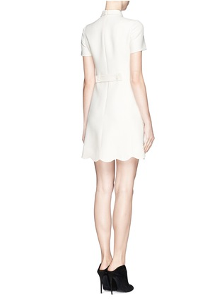 Back View - Click To Enlarge - VALENTINO - Crepe Couture bow neck dress