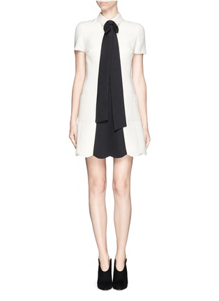Main View - Click To Enlarge - VALENTINO - Crepe Couture bow neck dress