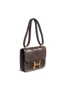 Vintage Hermès Constance 18cm crocodile leather bag