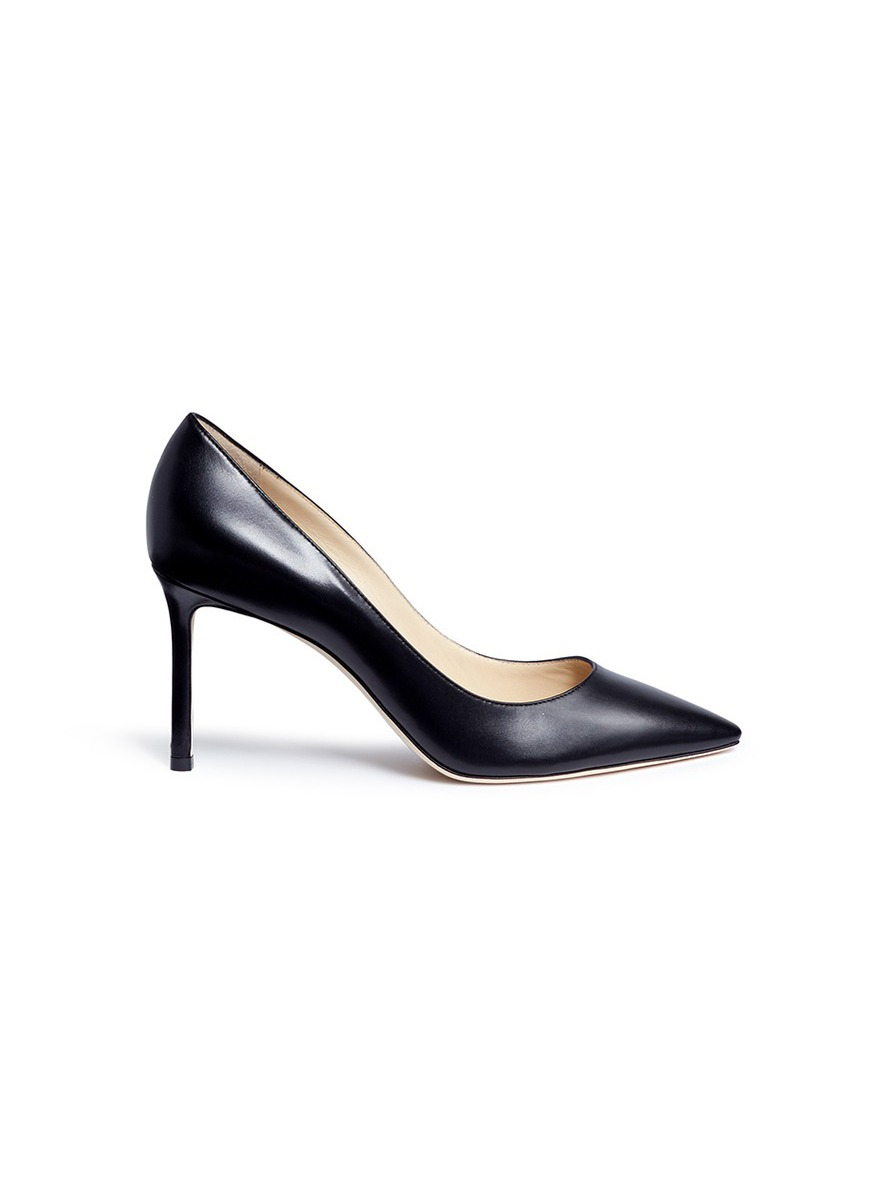 Romy 85 leather pumps by Jimmy Choo