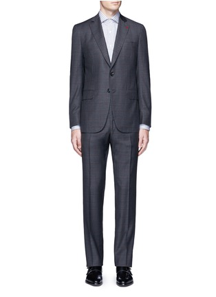 Main View - Click To Enlarge - ISAIA - 'Gregory' overcheck Aquaspider wool suit