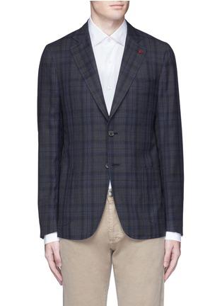 Main View - Click To Enlarge - ISAIA - 'Cortina' check wool blazer