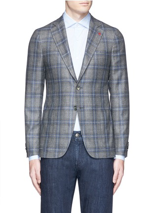 Main View - Click To Enlarge - ISAIA - 'Cortina' check cashmere blazer