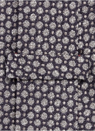 Detail View - Click To Enlarge - ISAIA - Dot jacquard silk tie
