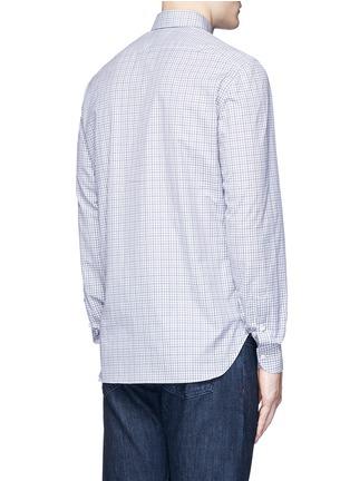 Back View - Click To Enlarge - ISAIA - 'Parma' check cotton shirt