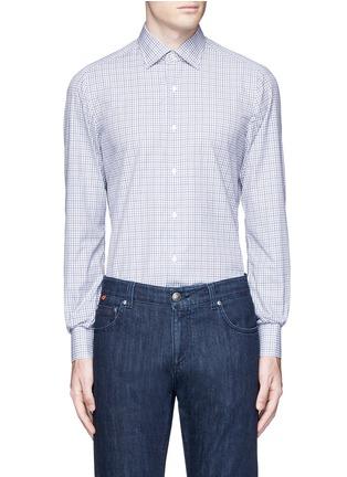 Main View - Click To Enlarge - ISAIA - 'Parma' check cotton shirt