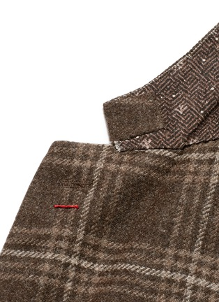 Detail View - Click To Enlarge - ISAIA - 'Sailor' check wool blazer