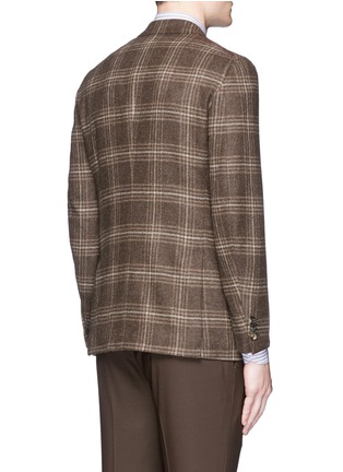 Back View - Click To Enlarge - ISAIA - 'Sailor' check wool blazer