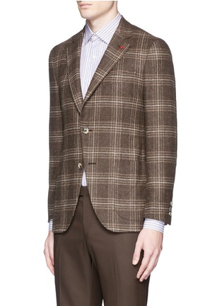 Front View - Click To Enlarge - ISAIA - 'Sailor' check wool blazer
