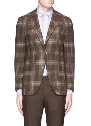 Main View - Click To Enlarge - ISAIA - 'Sailor' check wool blazer