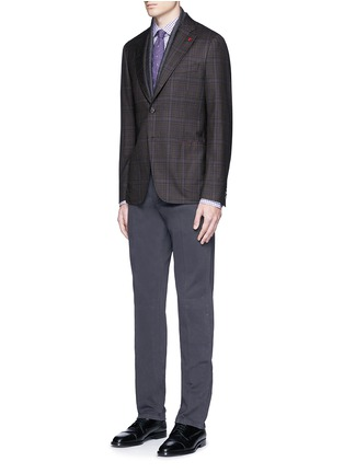 Figure View - Click To Enlarge - ISAIA - 'Cortina' check wool blazer