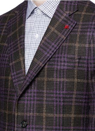 Detail View - Click To Enlarge - ISAIA - 'Cortina' Glen plaid wool-silk-cashmere blazer