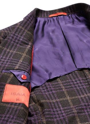 - ISAIA - 'Cortina' Glen plaid wool-silk-cashmere blazer
