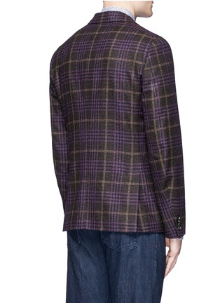 Back View - Click To Enlarge - ISAIA - 'Cortina' Glen plaid wool-silk-cashmere blazer