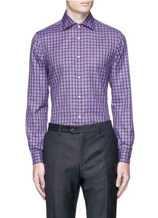 Main View - Click To Enlarge - ISAIA - 'Como' check cotton shirt