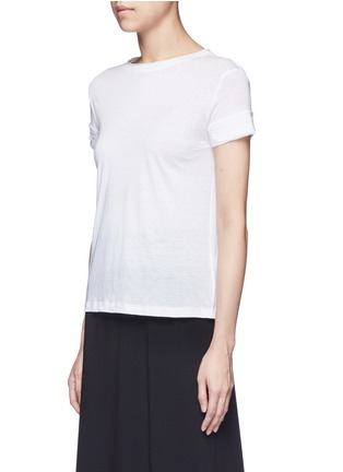 Front View - Click To Enlarge - Helmut Lang - Raw cuff T-shirt