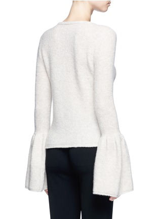 Back View - Click To Enlarge - Co - Bell cuff cashmere bouclé sweater