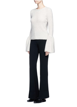 Figure View - Click To Enlarge - Co - Bell cuff cashmere bouclé sweater