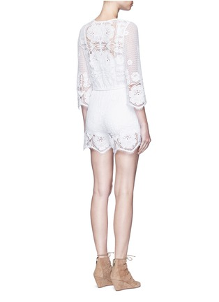 Back View - Click To Enlarge - MIGUELINA - 'Greta' scalloped lace rompers
