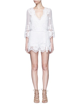 Main View - Click To Enlarge - MIGUELINA - 'Greta' scalloped lace rompers