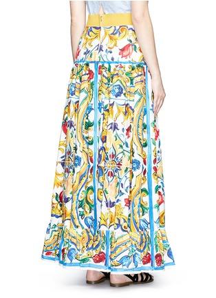 Back View - Click To Enlarge - Dolce & Gabbana - Maiolica print poplin maxi skirt