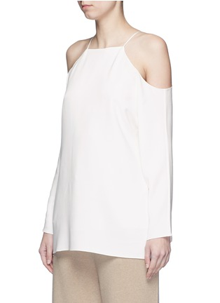 Front View - Click To Enlarge - The Row - 'Krauss' cold shoulder top