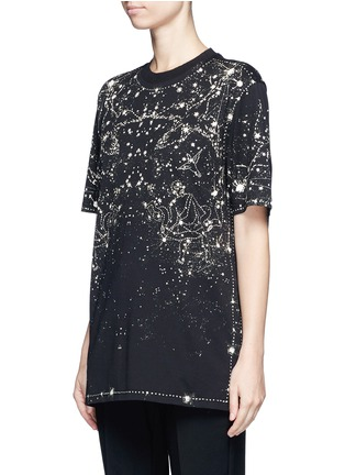 Front View - Click To Enlarge - Givenchy Beauty - Constellation print cotton T-shirt