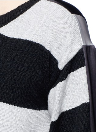 Detail View - Click To Enlarge - STELLA MCCARTNEY - Stripe silk cashmere-wool combo sweater