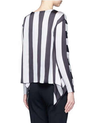 Back View - Click To Enlarge - STELLA MCCARTNEY - Stripe silk cashmere-wool combo sweater