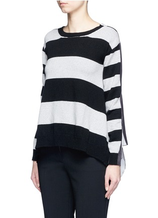 Front View - Click To Enlarge - STELLA MCCARTNEY - Stripe silk cashmere-wool combo sweater