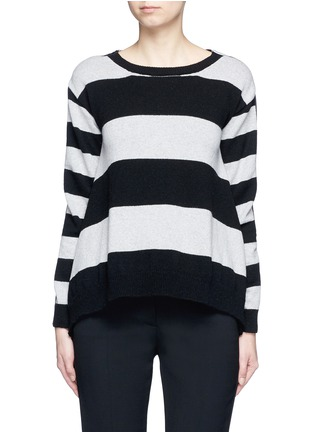 Main View - Click To Enlarge - STELLA MCCARTNEY - Stripe silk cashmere-wool combo sweater