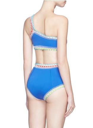 Back View - Click To Enlarge - Kiini - 'Tuesday' crochet trim one-shoulder bikini top