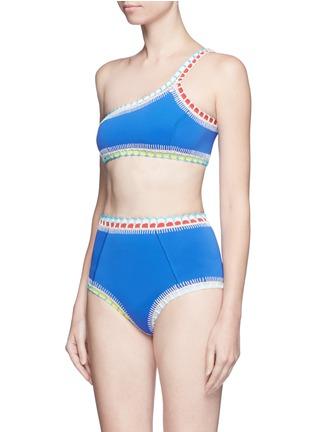 Figure View - Click To Enlarge - Kiini - 'Tuesday' crochet trim one-shoulder bikini top