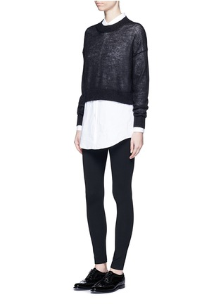 Figure View - Click To Enlarge - Theory - 'Shawn C' ponte knit jersey leggings