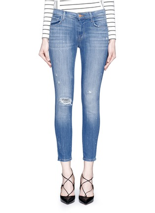 Detail View - Click To Enlarge - J Brand - '835' distressed cropped jeans