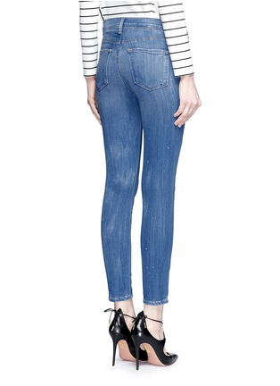 Back View - Click To Enlarge - J BRAND - '835' distressed cropped jeans