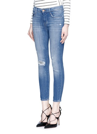 Front View - Click To Enlarge - J Brand - '835' distressed cropped jeans