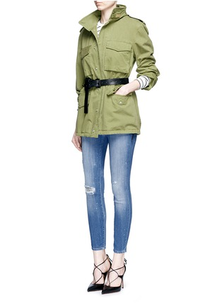 Figure View - Click To Enlarge - J BRAND - '835' distressed cropped jeans